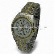 Men Watch with Stainless Steel Case and Bracelet, IPG Plating, Japanese Movement images