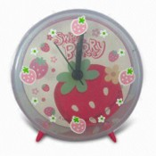Promotional Desk Alarm Clock, Made of Plastic, Customized Dial is Welcome images