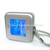 Travel Clock with Countdown Timer, Electric Torch, and Optional Burglar Security Functions images