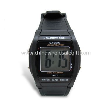 Mens 3.5 Digits Plastic Watch with Time and Date Display