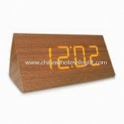 LED Clock, Made of Wood, Laser Engrave Logo is Available images