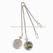 Pocket Watches with Alloy Cover and Chain images