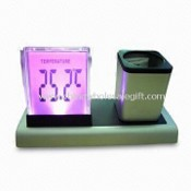 Promotional LCD Clock with Pen Holder, Measuring 16.5 x 8.0 x 9.0cm images