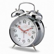 Metal Twin Bell Alarm Clock, Measuring 16 x 6 x 11.6cm images