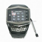 Quad-band Watch Phone, Supports FM, Camera Bluetooth and MP3/MP4 Player images