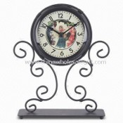Wrought Iron Table Clock, Measures 23 x 5.9 x 27.5cm images