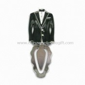 Tuxedo Paper Clip / Bookmark, Made of Metal Alloy images