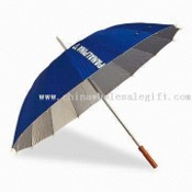 25-inch 16K Straight Manual Open Umbrella with Steel Shaft and Frame images
