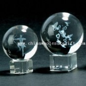 Laser-Engraved Crystal Ball, Available in Customized Designs images