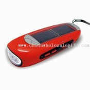 Solar Flashlight Radio with 3 Pieces Ultra-bright LED and Charging Indicator images