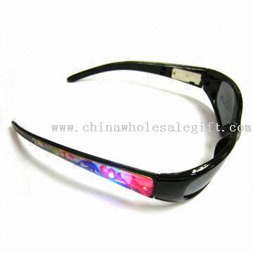 Flashing Sunglasses, Can Change the Battery and Can be Used Like Sunglasses