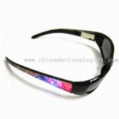 Flashing Sunglasses, Can Change the Battery and Can be Used Like Sunglasses images