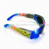 Flashing Sunglasses with 12 LED Lights, Suitable for Children, Customized Logos Available images
