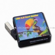 Color Card Reader, Supports SD, SDHC, Mini SD, MMC, RS-MMC, MS, MS Duo, and MS Pro Duo images