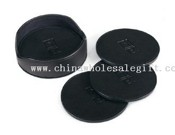 Round Leather Coaster Set images