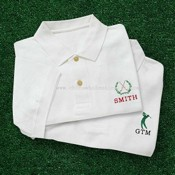 Embroidered Golf Polo Shirt images