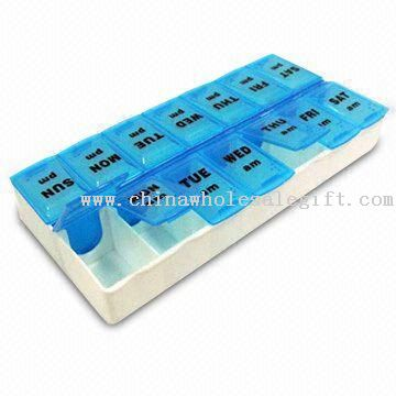 Dual Pill Box with 14 Compartments