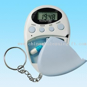 Multifunction Pill Box with Eight to Ten Seconds Voice Recording Alarm Function