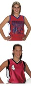 Womens and Girls Dazzle Sleeveless Soccer Jerseys images