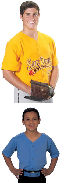 Adult and Youth Pro-Style Six Button Baseball Apparel