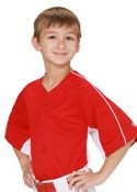 Youth Diamond-Core Full Button Baseball Jersey with Mesh Side Inserts images