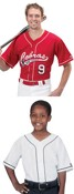 Youth and Adult 6-Button Baseball Jerseys with Sewn-On Braid images