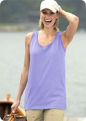 100% Heavyweight Cotton Ladies Tank Top images