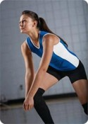 Ladies and girls Poly/Spandex Sleeveless Volleyball Jersey images
