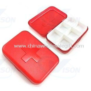 6 compartments Travel Pill Box