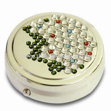 Crystal Pill Case with Timer