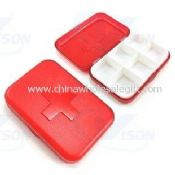 6 compartments Travel Pill Box images