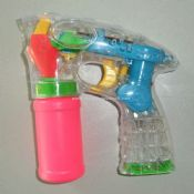Flashing bubble gun images