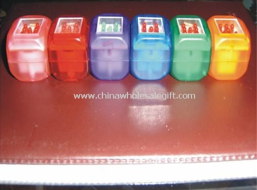 Seven red LED lights Flashing Dice