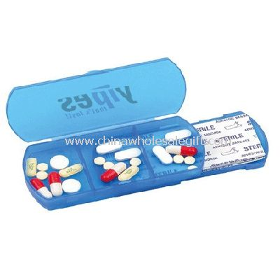 Travel Pill box with Bandage Dispenser