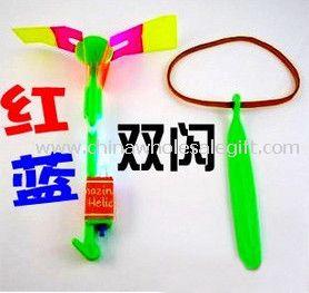Two Colors LED Emitting Rocket Toy