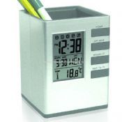 Pen Holder With LCD Clock images