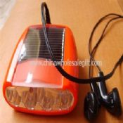 Portable or Bicycle FM Solar Radio With LED Torch images