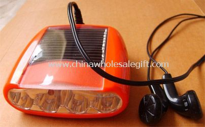 Portable or Bicycle FM Solar Radio With LED Torch