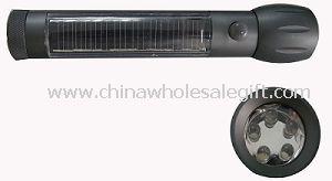 Solar Aluminum Flashlight
