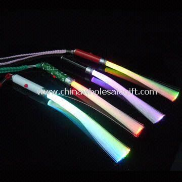 Flashing Optic Fiber Wands with 3 AG13 Button Cell Batteries