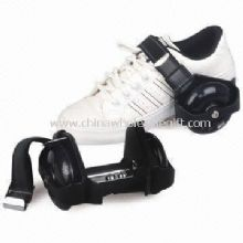Flashing Roller Shoes with Four PU Flashing Wheels and PA Plastic Bracket images