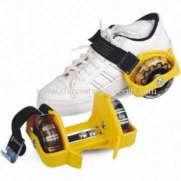 Flashing Roller Shoes with 72 x 24mm PVC Wheel