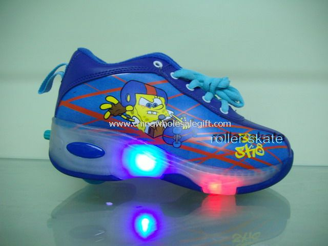 Print Flashing Roller Shoes with Lights