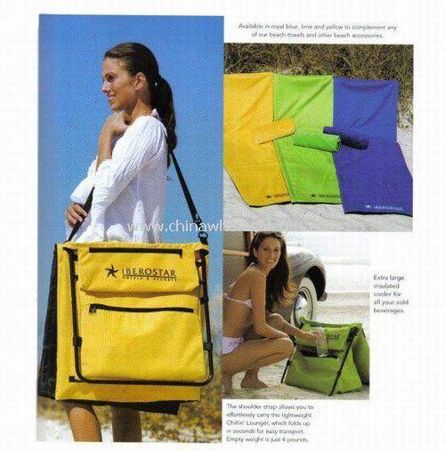 Foldable Beach Mat with Cooler Bag