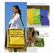 Foldable Beach Mat with Cooler Bag images