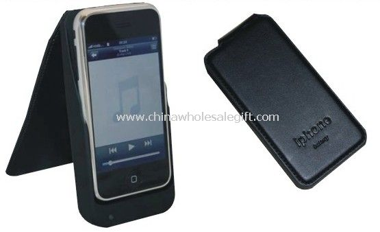 Battery Leather Case Cover W/ 2200mah Battery and Charger for iPhone 3G 3GS
