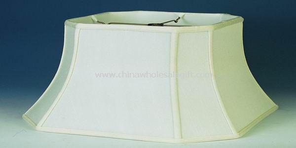 Square cut corner silk shantung lampshade
