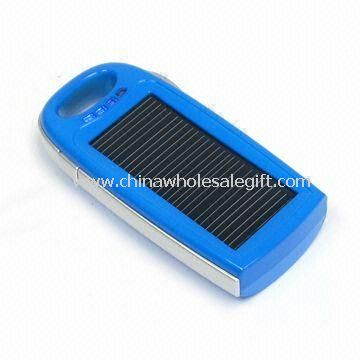 Portable Solar Charger with 500mA Input Current and 1100mA/3.7V Capacity