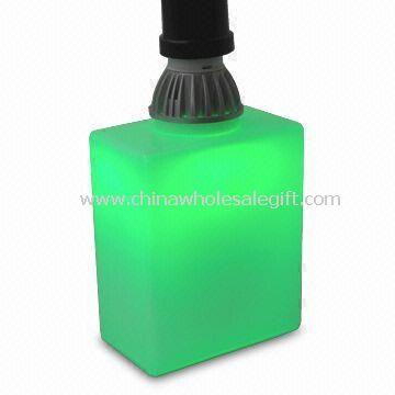 Green Brick-shaped Energy-saving Glass Light LED Lamp for Lighting Decoration