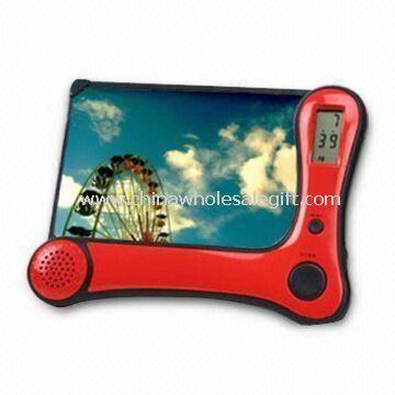 LCD Clock Radio with Photo Frame and AM/FM Radio